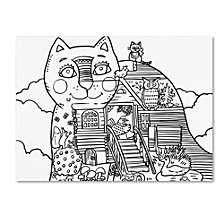 Oxana Ziaka 'Russian Tale Cat 2' Canvas Art Collection