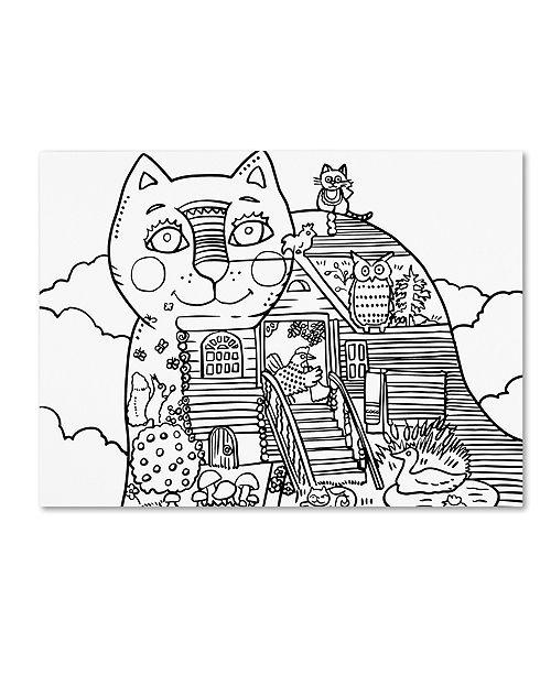 "Trademark Global Oxana Ziaka 'Russian Tale Cat 2' Canvas Art - 19"" x 14"" x 2"""