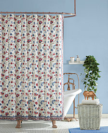 Jessica Simpson Galieri Lined Cotton Shower Curtain