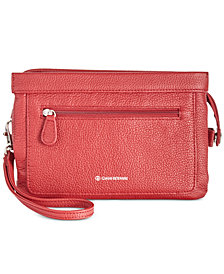 Giani Bernini Leather Crossbody Wallet, Created for Macy's