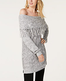 I.N.C. Foldover Off-The-Shoulder Sweater, Created for Macy's