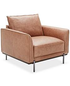 """Havant 37"""" Leather Accent Chair"""