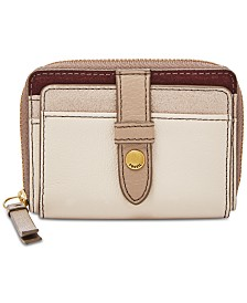 003620b849 Fossil Fiona Suede   Leather Zip Coin Wallet