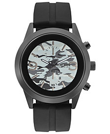 Kenneth Cole Reaction Men's Black Silicone Strap Watch 47mm