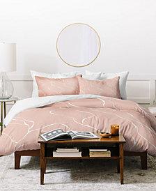 Gabriela Fuente Line Pink Duvet Set