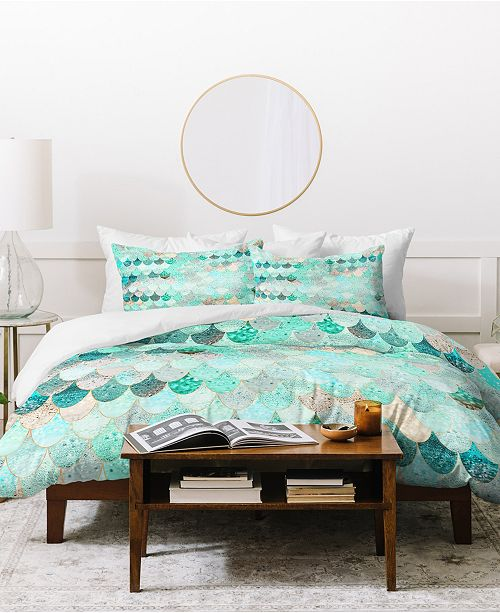 Deny Designs Monika Strigel Summer Mermaid Mint And Duvet Set