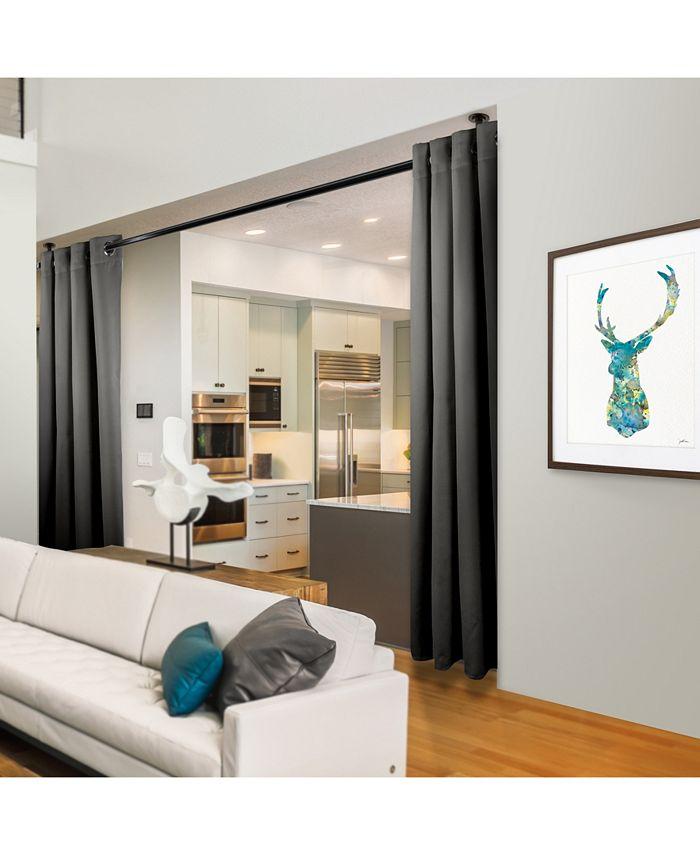 "Rod Desyne - Room Darkening Curtain - Turquoise 96"" x 108"""