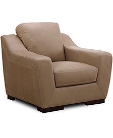 "Gansey 42"" Leather Chair"