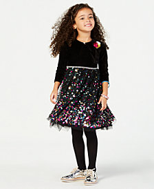 Blueberi Boulevard Little Girls 2-Pc. Shrug & Dress Set