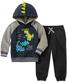 Kids Headquarters Baby Boys 2-Pc. Dino Fleece Hoodie & Jogger Pants Set