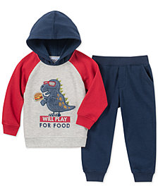 Kids Headquarters Baby Boys 2-Pc. Fleece Colorblocked Hoodie & Jogger Pants Set