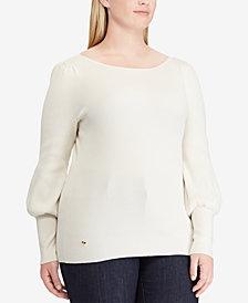 Lauren Ralph Lauren Plus Size Flared-Sleeve Sweater
