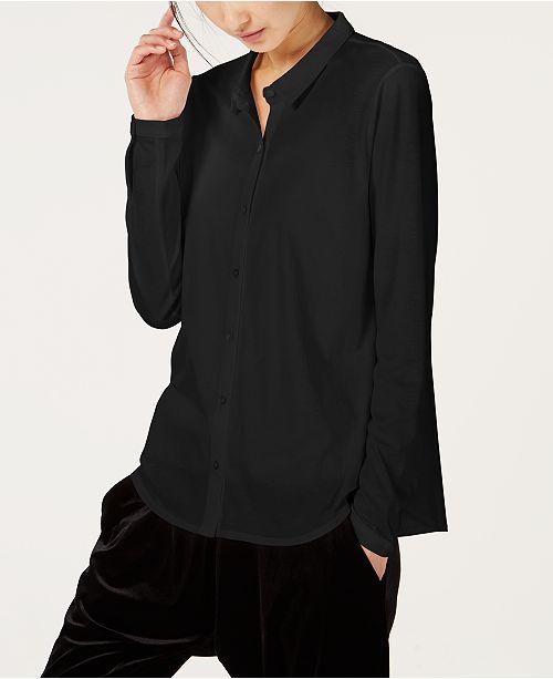 b04afd662bd Eileen Fisher Organic Cotton Classic-Collar Shirt