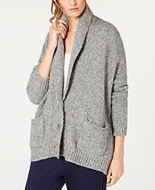 Eileen Fisher Baby Alpaca Shawl-Collar Cardigan
