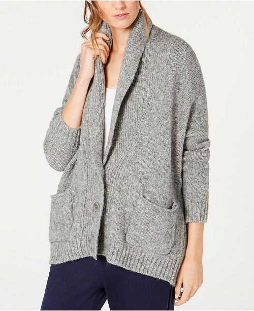 9a1f197b0 Eileen Fisher Baby Alpaca Shawl-Collar Cardigan   Reviews ...