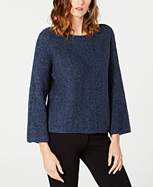 Eileen Fisher Textured-Knit Flared Sweater