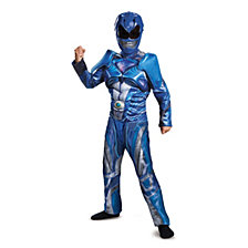Power Rangers Blue Ranger Classic Muscle Big Boys Costume