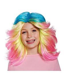 Trolls Lady Glitter Sparkles Big Girls Wig