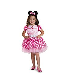 Minnie Mouse Pink Minnie Mouse Toddler Little and Big Girls Costume