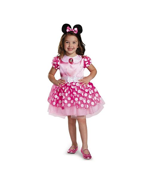 BuySeasons Minnie Mouse Pink Minnie Mouse Toddler Little and Big Girls Costume