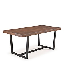 72 inch Distressed Solid Wood Dining Table