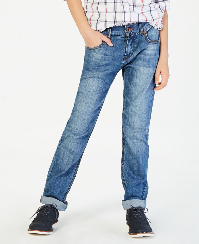 Tommy Hilfiger - Regular-Fit Stone Blue Jeans, Big Boys (8-20)