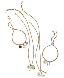 DKNY Gold-Tone Pavé Charm Jewelry Separates