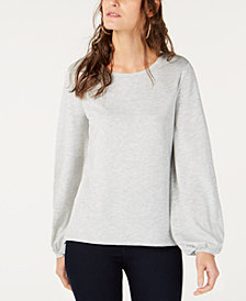 I.N.C. Balloon-Sleeve Sweatshirt, Created for Macy's