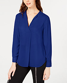 I.N.C. Pleated V-Neck Top, Created for Macy's