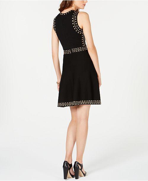 8098b1d0aaf Michael Kors Studded Sweater Dresss   Reviews - Dresses - Petites ...