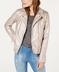 Tommy Hilfiger Metallic Moto Jacket, Created for Macy's