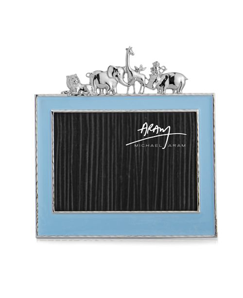 "Michael Aram  Animals 5x7"" Blue Frame"