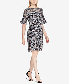 Lauren Ralph Lauren Ruffled-Cuff Lace Dress