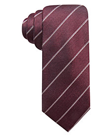 Alfani Men's Slim Stripe Silk Tie, Created for Macy's