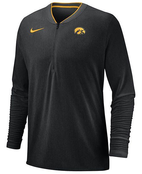 Nike Men's Iowa Hawkeyes Coaches Quarter-Zip Pullover 2018