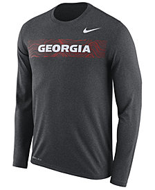Nike Men's Georgia Bulldogs Legend Sideline Long Sleeve T-Shirt 2018