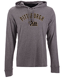 '47 Brand Men's Pittsburgh Panthers Long Sleeve Focus Hooded T-Shirt