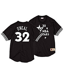 Mitchell & Ness Men's Shaquille O'Neal NBA All Star Black & White Mesh Name and Number Crew Neck Jersey