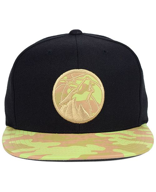 check out 2e187 42fe9 ... coupon mitchell ness minnesota timberwolves natural camo snapback cap  sports fan shop by lids men macys