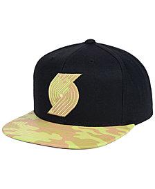 Mitchell & Ness Portland Trail Blazers Natural Camo Snapback Cap