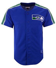 Mitchell & Ness Men's Seattle Seahawks Winning Team Mesh Button Front Jersey