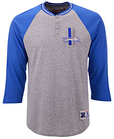 Mitchell & Ness Men's Detroit Lions Four Button Henley T-Shirt