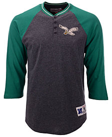 Mitchell & Ness Men's Philadelphia Eagles Four Button Henley T-Shirt