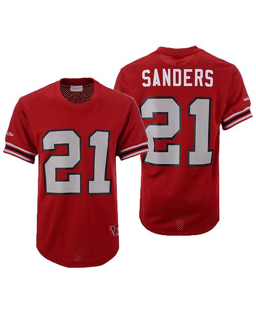 buy online 8bce7 ef3fb Men's Deion Sanders Atlanta Falcons Mesh Name and Number Crewneck Jersey