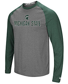 Colosseum Men's Michigan State Spartans Social Skills Long Sleeve Raglan Top