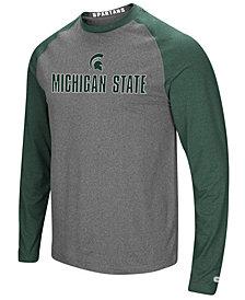 Colosseum Men's Michigan State Spartans Social Skills Long Sleeve Raglan Top