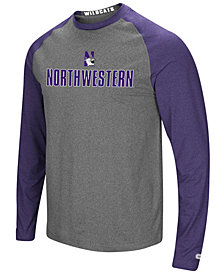 Colosseum Men's Northwestern Wildcats Social Skills Long Sleeve Raglan Top