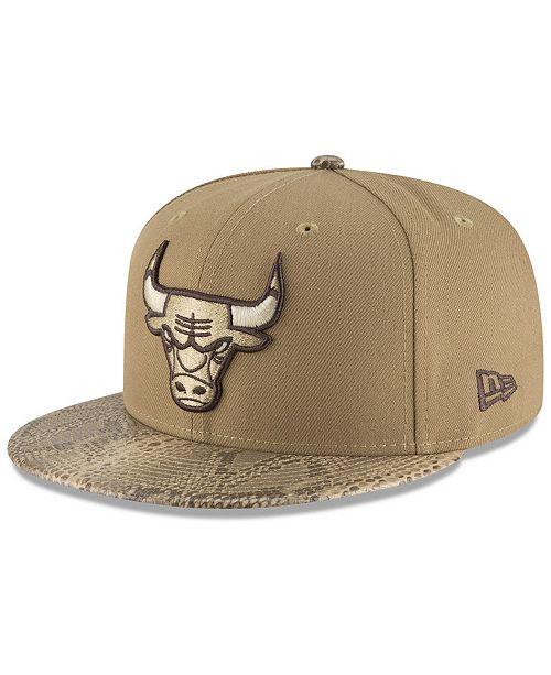 2f792a157a7 New Era Chicago Bulls Snakeskin Sleek 59FIFTY FITTED Cap   Reviews ...