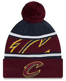 New Era Boys' Cleveland Cavaliers Jr. Callout Pom Hat