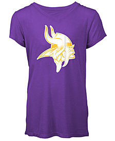 5th & Ocean Minnesota Vikings Logo T-Shirt, Girls (4-16)